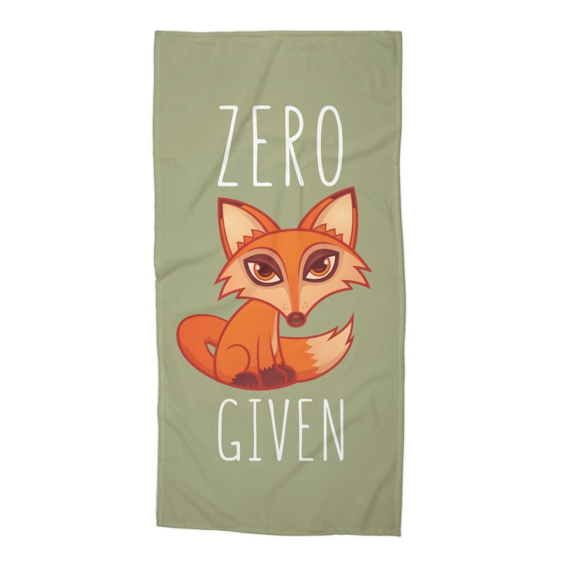 Zero Fox Given Accessories Beach Towel by Fizzgig's Artist Shop