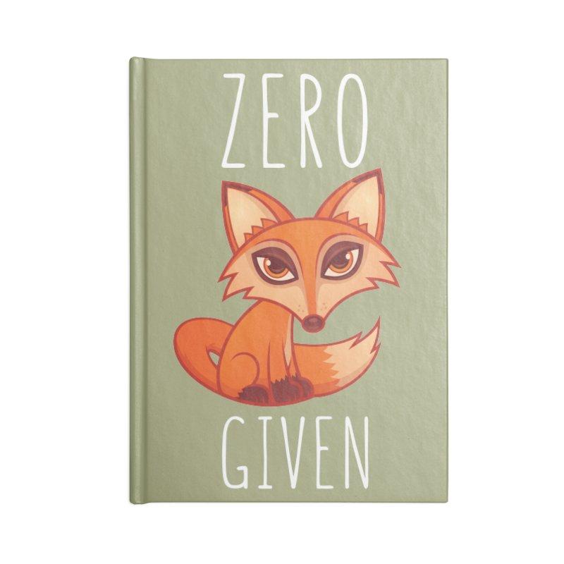 Zero Fox Given Accessories Notebook by Fizzgig's Artist Shop