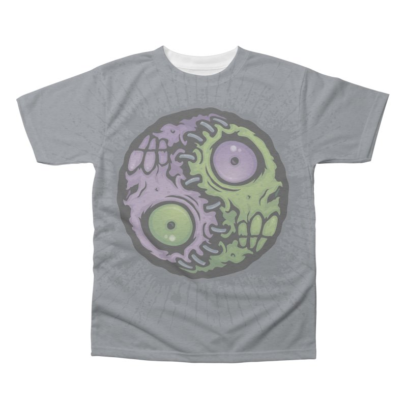 Zombie Yin-Yang Men's Triblend All Over Print by Fizzgig's Artist Shop