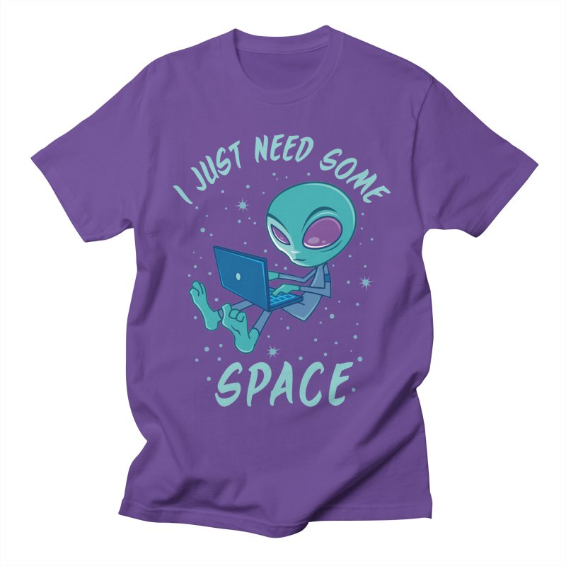 I Just Need Some Space Alien with Laptop Men's T-Shirt by Fizzgig's Artist Shop