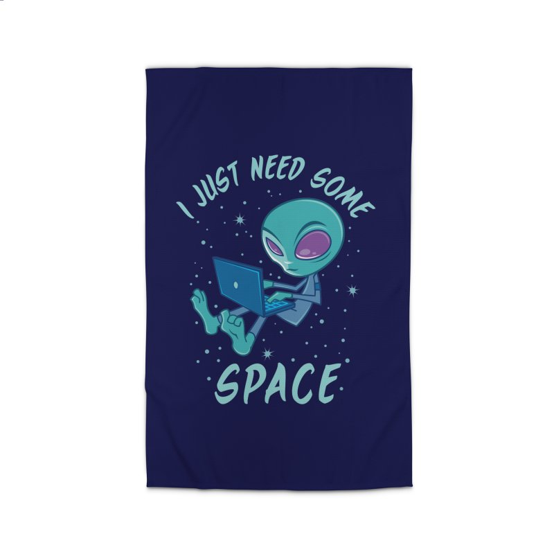 I Just Need Some Space Alien with Laptop Home Rug by Fizzgig's Artist Shop