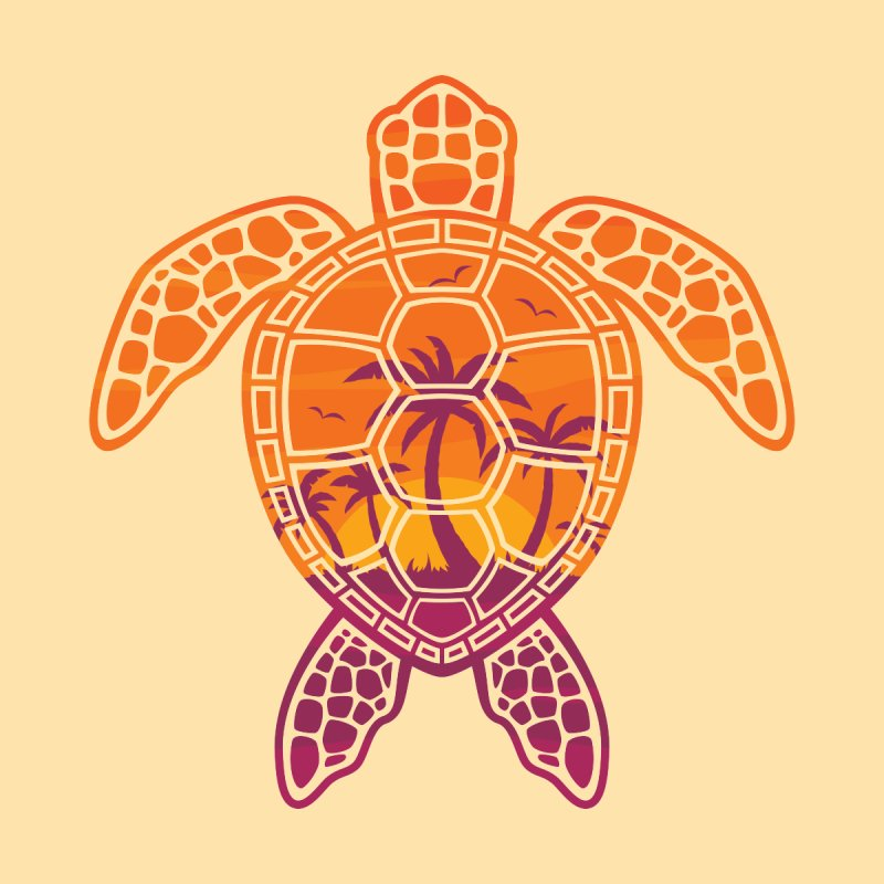 Tropical Sunset Sea Turtle Design   by Fizzgig's Artist Shop