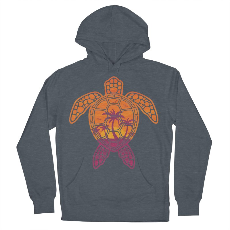 Tropical Sunset Sea Turtle Design Men's Pullover Hoody by Fizzgig's Artist Shop