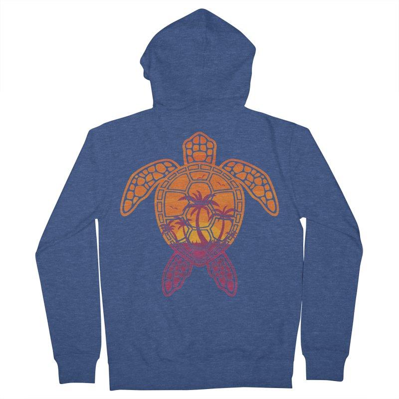 Tropical Sunset Sea Turtle Design Women's Zip-Up Hoody by Fizzgig's Artist Shop