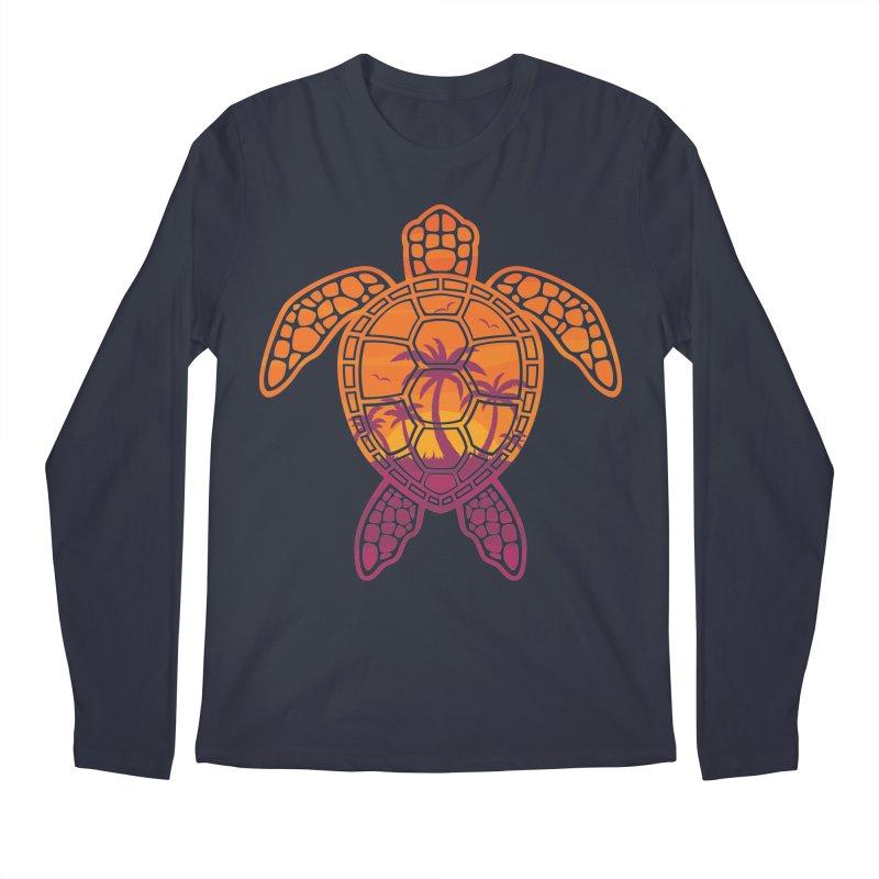 Tropical Sunset Sea Turtle Design Men's Longsleeve T-Shirt by Fizzgig's Artist Shop