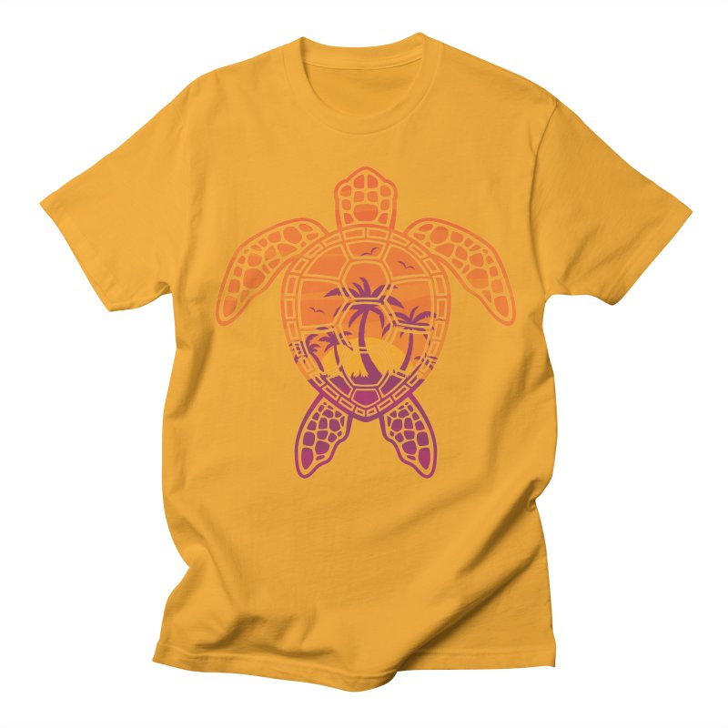 Tropical Sunset Sea Turtle Design Women's Unisex T-Shirt by Fizzgig's Artist Shop