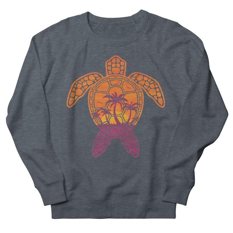 Tropical Sunset Sea Turtle Design Women's Sweatshirt by Fizzgig's Artist Shop