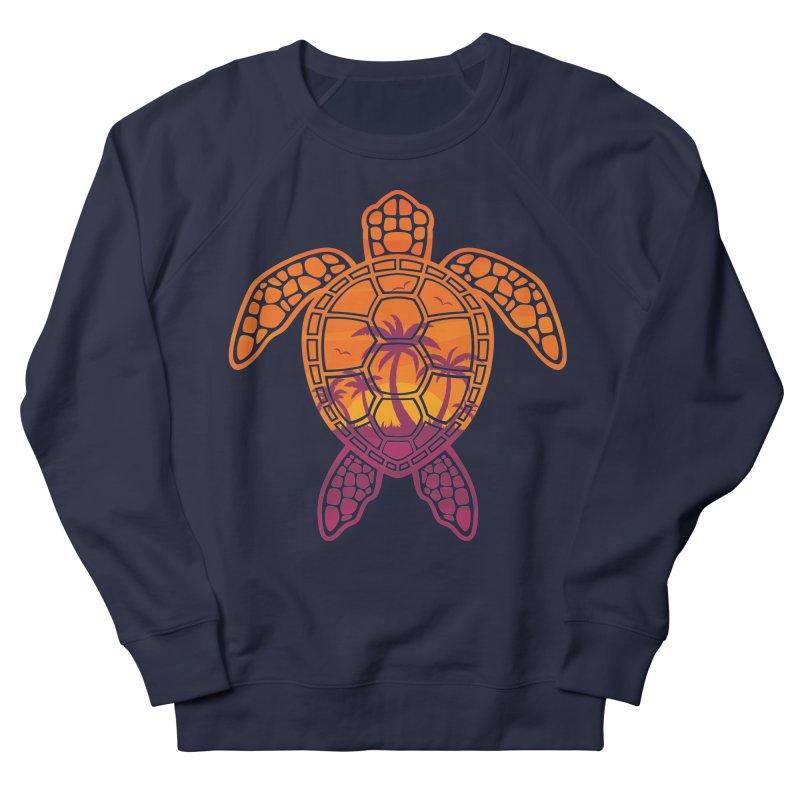 Tropical Sunset Sea Turtle Design Men's Sweatshirt by Fizzgig's Artist Shop
