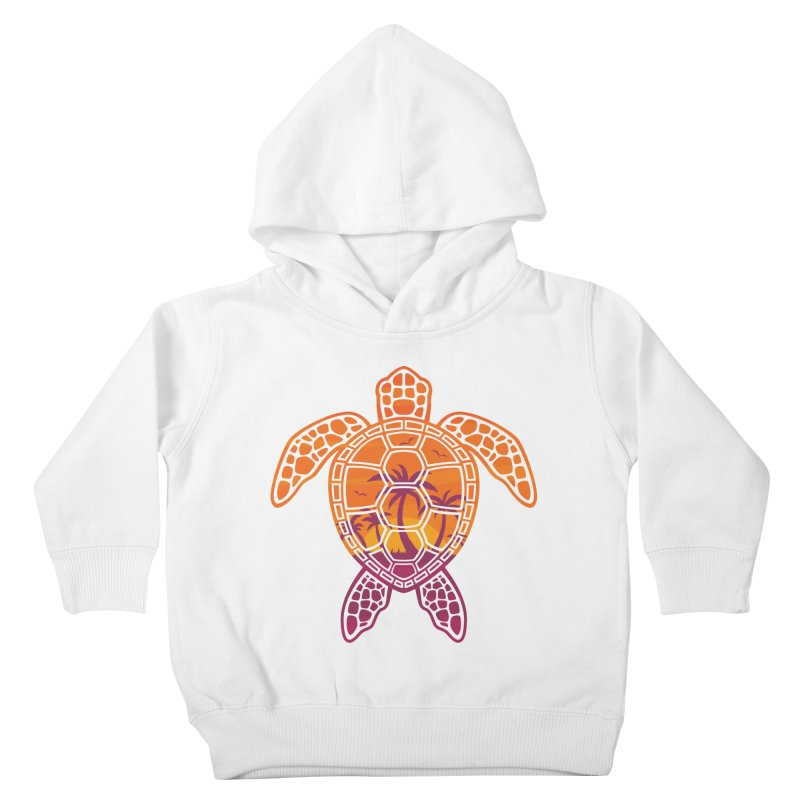 Tropical Sunset Sea Turtle Design Kids Toddler Pullover Hoody by Fizzgig's Artist Shop