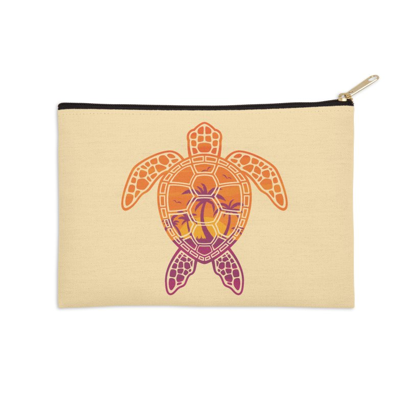 Tropical Sunset Sea Turtle Design Accessories Zip Pouch by Fizzgig's Artist Shop