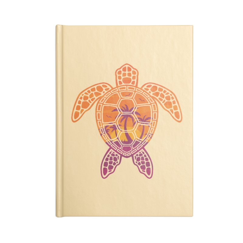 Tropical Sunset Sea Turtle Design Accessories Notebook by Fizzgig's Artist Shop