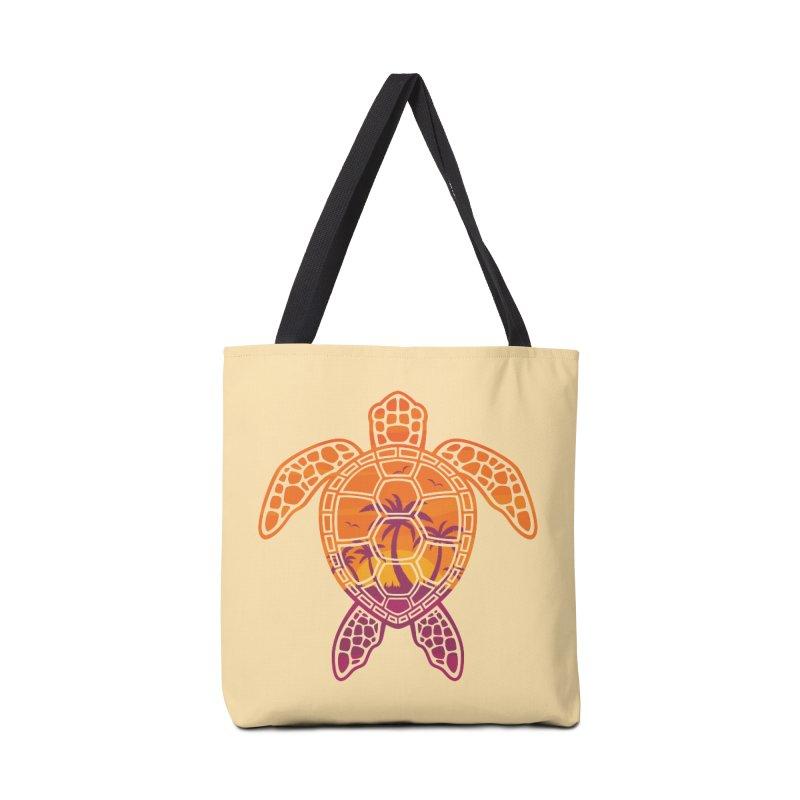 Tropical Sunset Sea Turtle Design Accessories Bag by Fizzgig's Artist Shop
