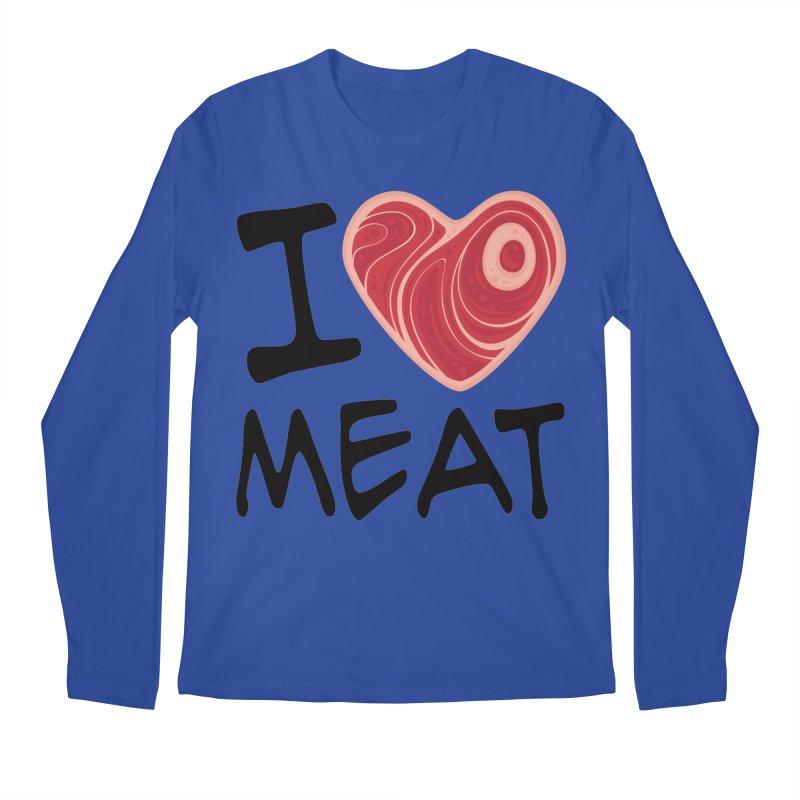 I Love Meat Men's Longsleeve T-Shirt by Fizzgig's Artist Shop