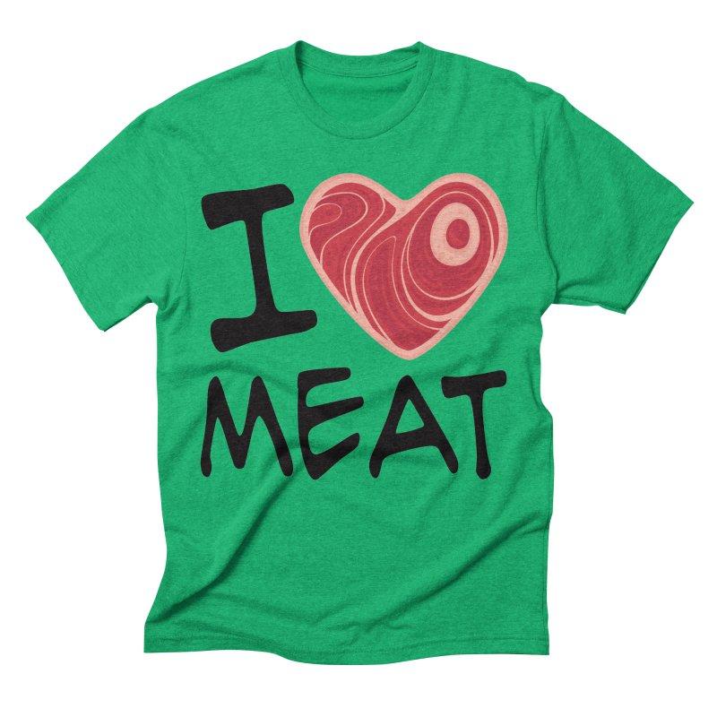 I Love Meat Men's Triblend T-Shirt by Fizzgig's Artist Shop