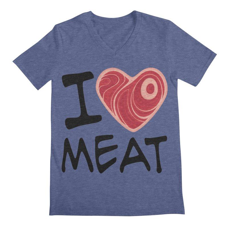 I Love Meat Men's V-Neck by Fizzgig's Artist Shop