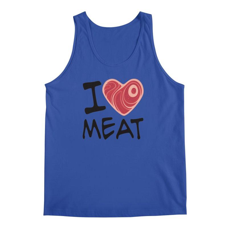 I Love Meat Men's Tank by Fizzgig's Artist Shop