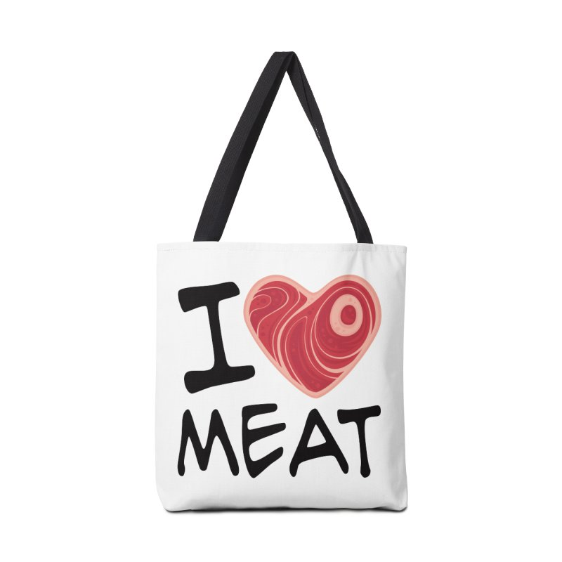 I Love Meat Accessories Bag by Fizzgig's Artist Shop