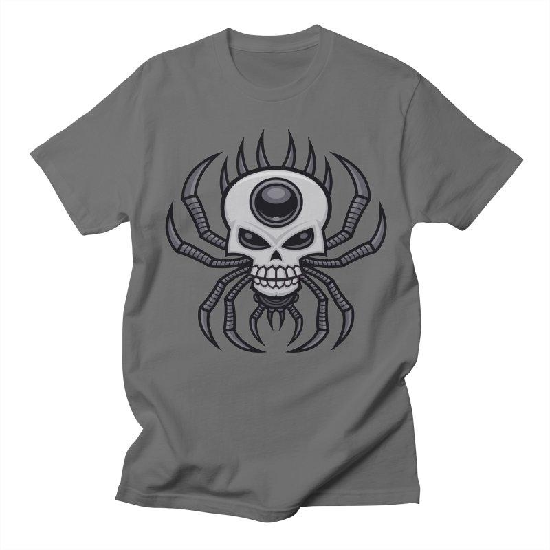 Skull Spider Men's T-Shirt by Fizzgig's Artist Shop