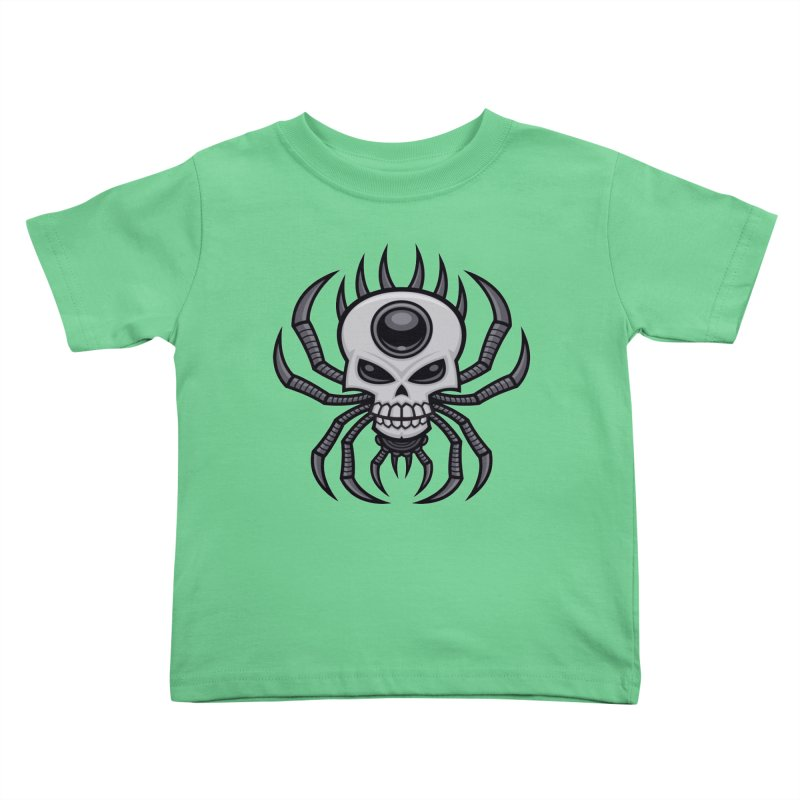 Skull Spider Kids Toddler T-Shirt by Fizzgig's Artist Shop