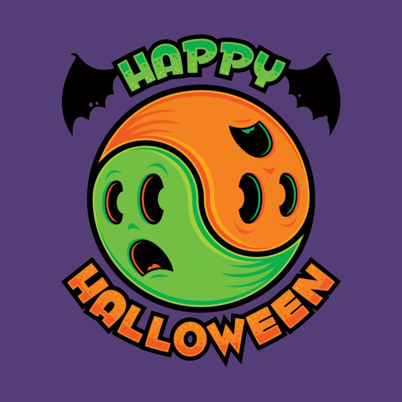 Happy Halloween Ghost Yin-Yang   by Fizzgig's Artist Shop