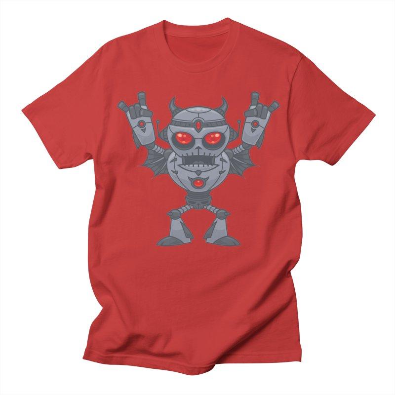 Metalhead - Heavy Metal Robot Devil Men's T-Shirt by Fizzgig's Artist Shop