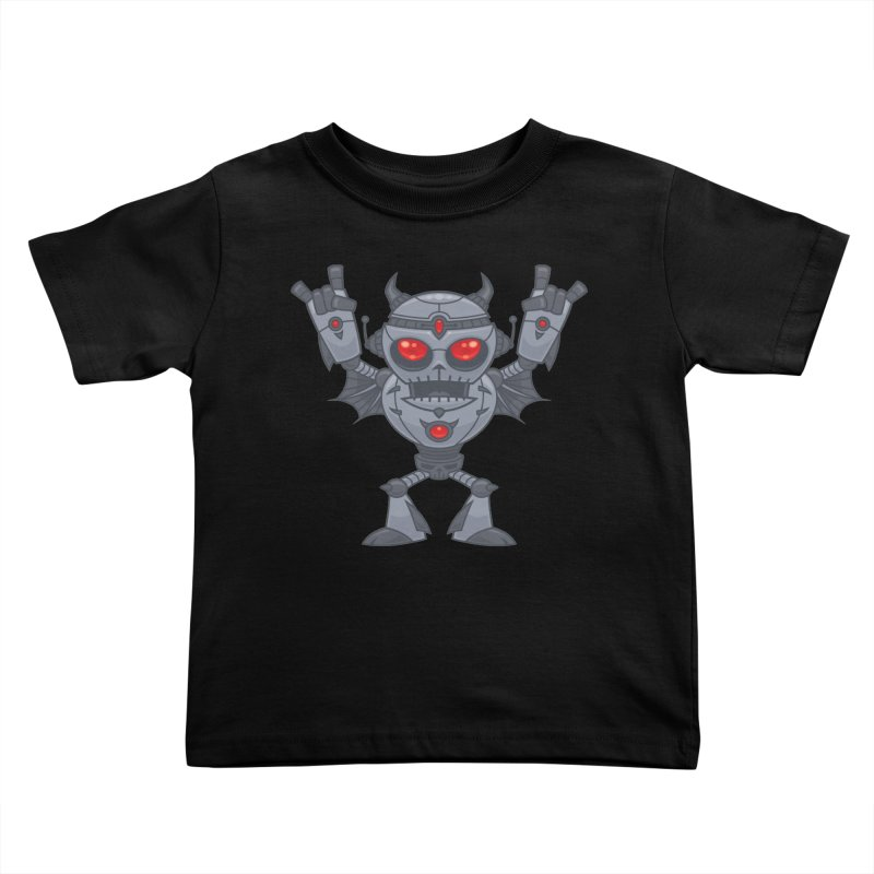 Metalhead - Heavy Metal Robot Devil Kids Toddler T-Shirt by Fizzgig's Artist Shop