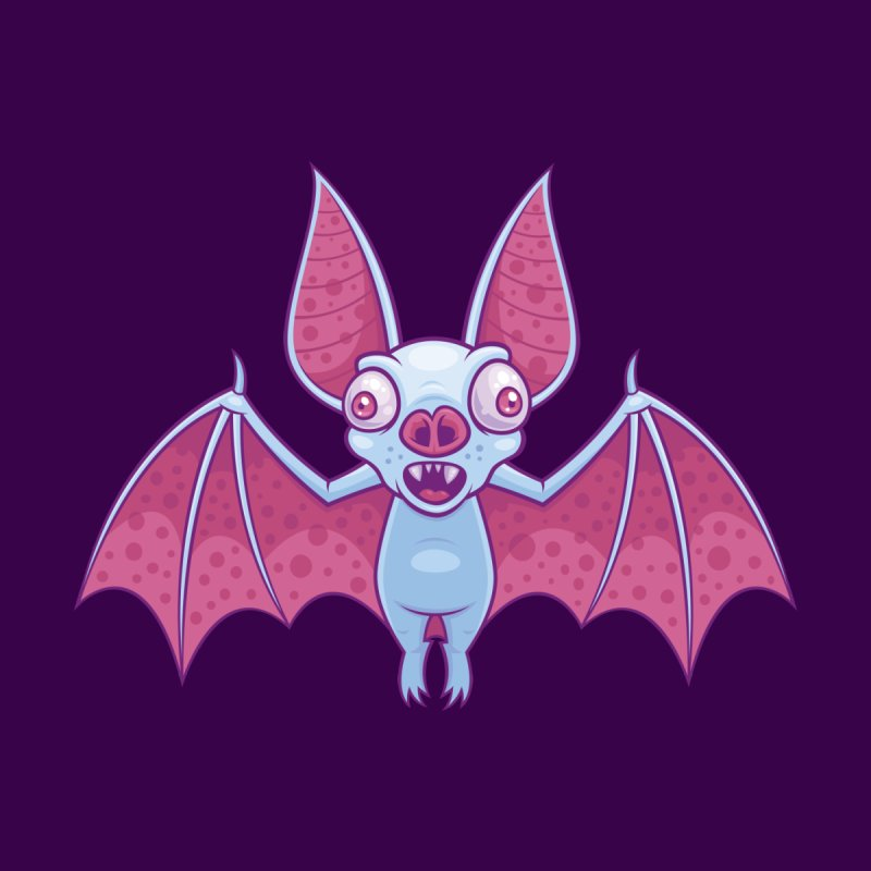 Albino Vampire Bat Men's All Over Print by Fizzgig's Artist Shop