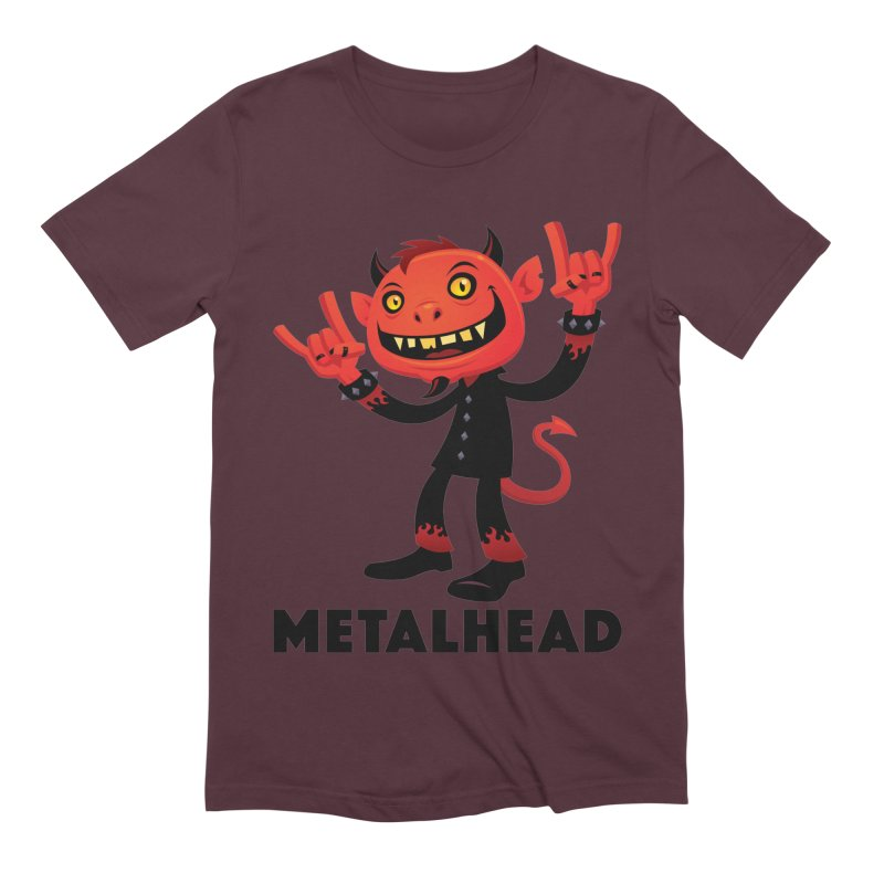 Heavy Metal Devil Metalhead Men's Extra Soft T-Shirt by Fizzgig's Artist Shop