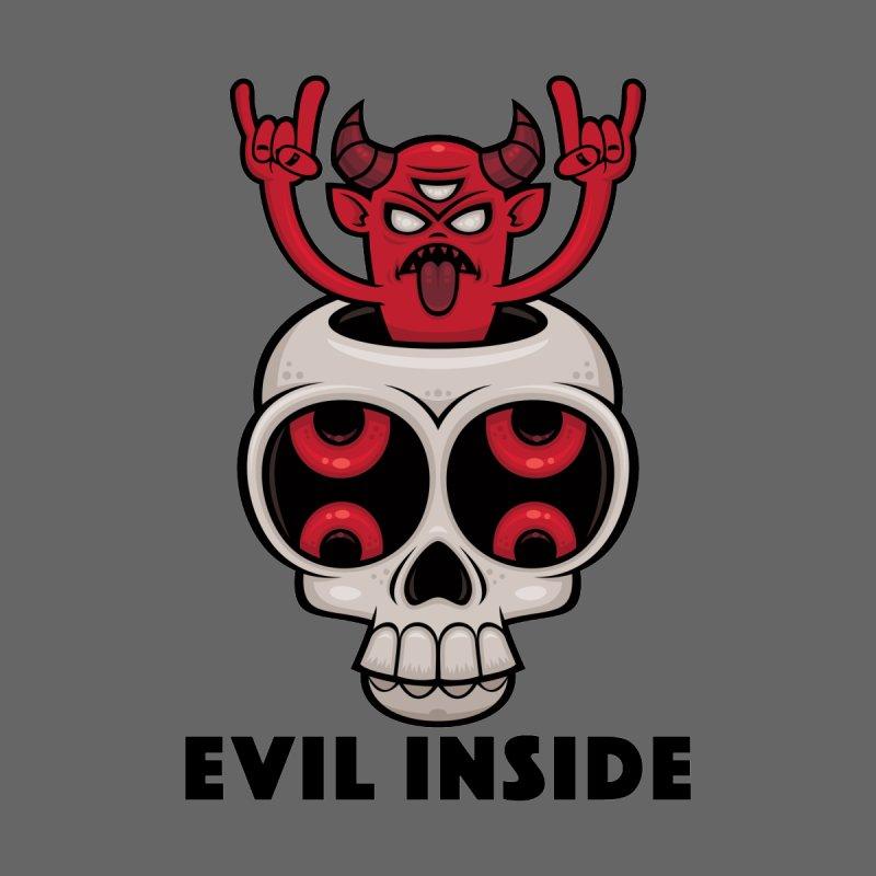 Possessed Skull Evil Inside Men's T-Shirt by Fizzgig's Artist Shop