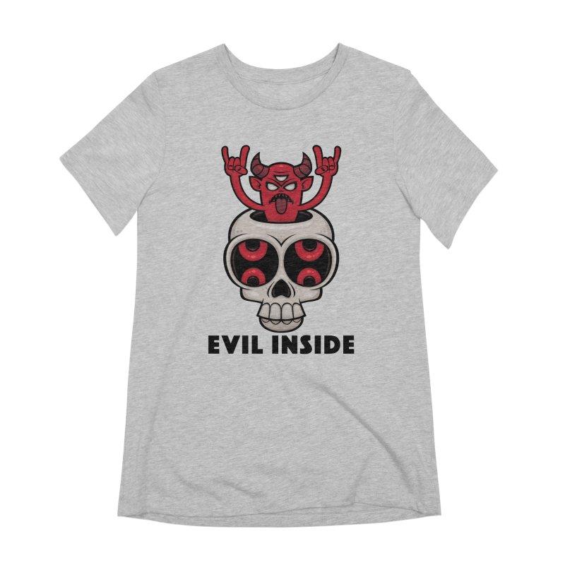 Possessed Skull Evil Inside Women's Extra Soft T-Shirt by Fizzgig's Artist Shop