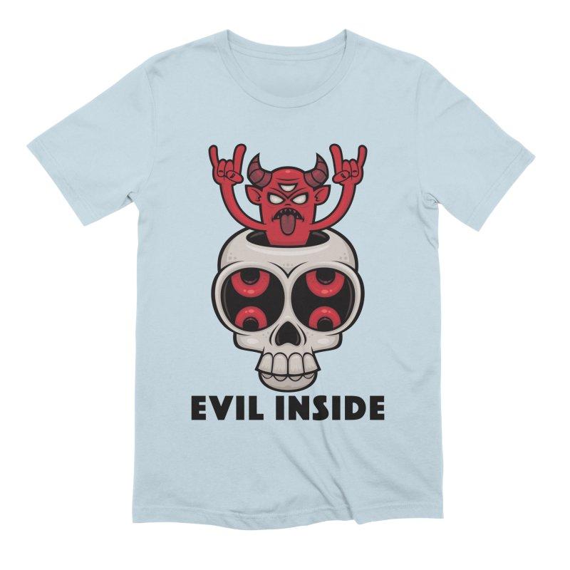 Possessed Skull Evil Inside Men's Extra Soft T-Shirt by Fizzgig's Artist Shop