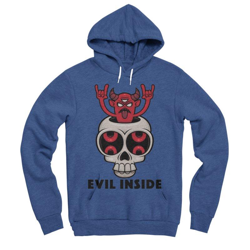 Possessed Skull Evil Inside Men's Sponge Fleece Pullover Hoody by Fizzgig's Artist Shop