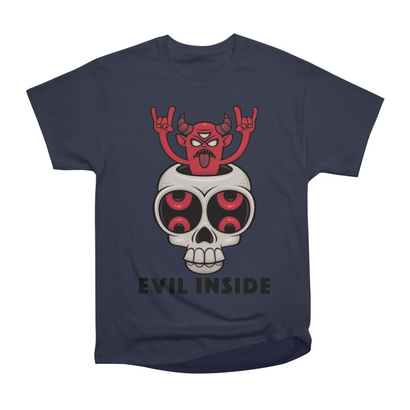 Possessed Skull Evil Inside Women's Heavyweight Unisex T-Shirt by Fizzgig's Artist Shop