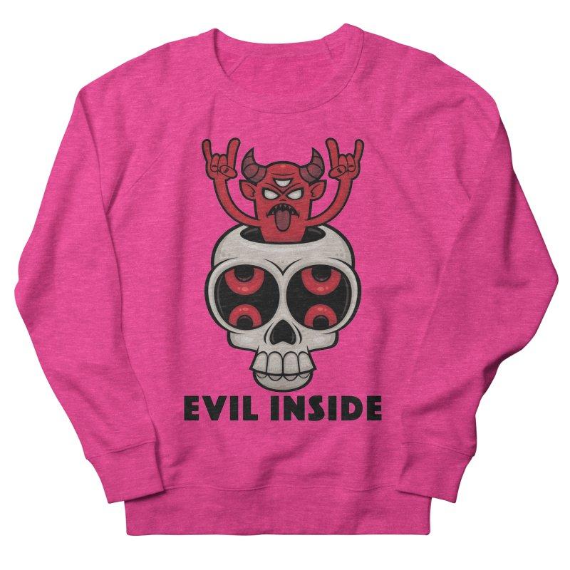 Possessed Skull Evil Inside Women's French Terry Sweatshirt by Fizzgig's Artist Shop