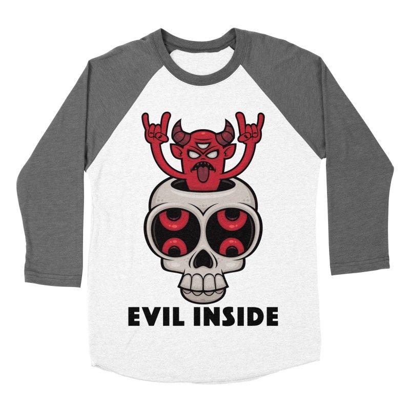 Possessed Skull Evil Inside Men's Baseball Triblend Longsleeve T-Shirt by Fizzgig's Artist Shop
