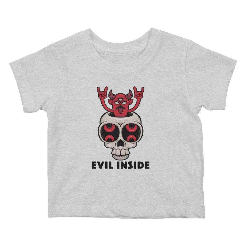 Possessed Skull Evil Inside Kids Baby T-Shirt by Fizzgig's Artist Shop