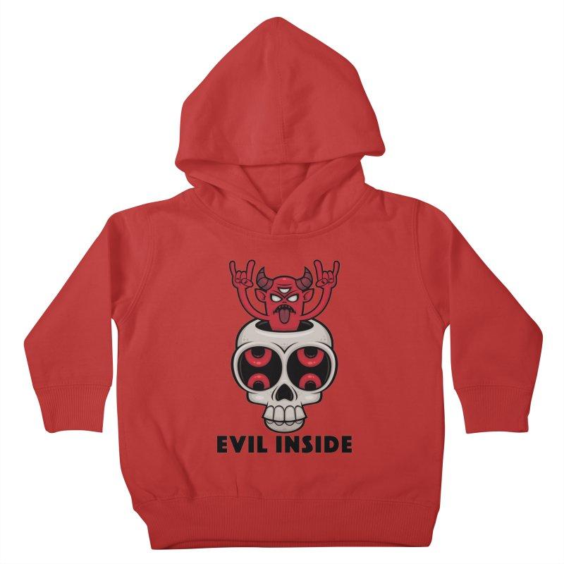Possessed Skull Evil Inside Kids Toddler Pullover Hoody by Fizzgig's Artist Shop