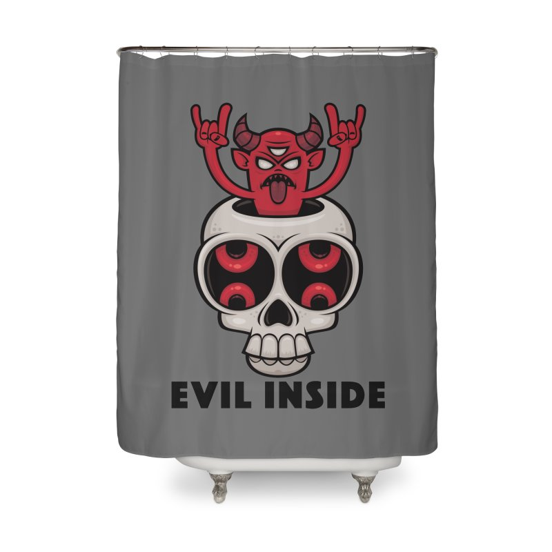 Possessed Skull Evil Inside Home Shower Curtain by Fizzgig's Artist Shop