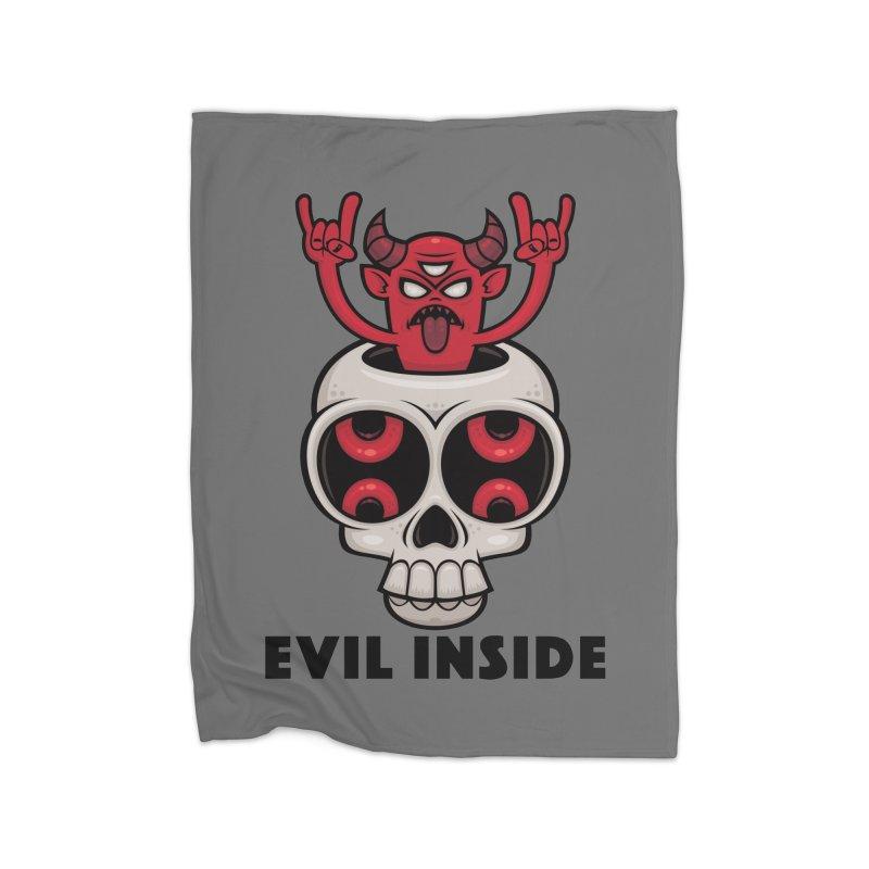 Possessed Skull Evil Inside Home Blanket by Fizzgig's Artist Shop