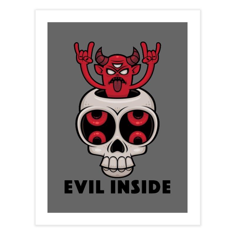 Possessed Skull Evil Inside Home Fine Art Print by Fizzgig's Artist Shop