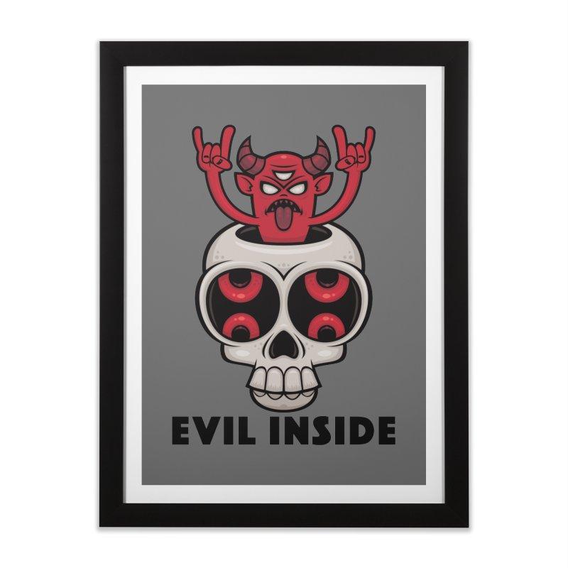 Possessed Skull Evil Inside Home Framed Fine Art Print by Fizzgig's Artist Shop