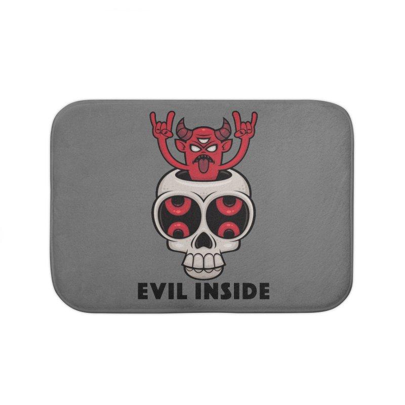 Possessed Skull Evil Inside Home Bath Mat by Fizzgig's Artist Shop