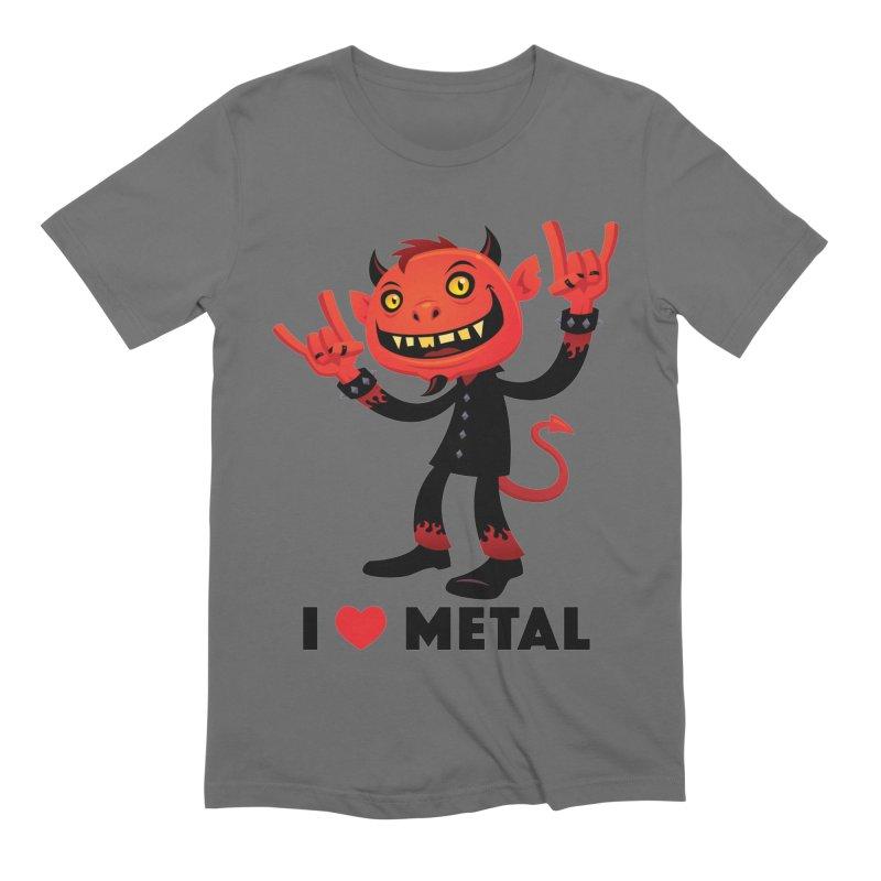 I Love Metal Devil Men's Extra Soft T-Shirt by Fizzgig's Artist Shop