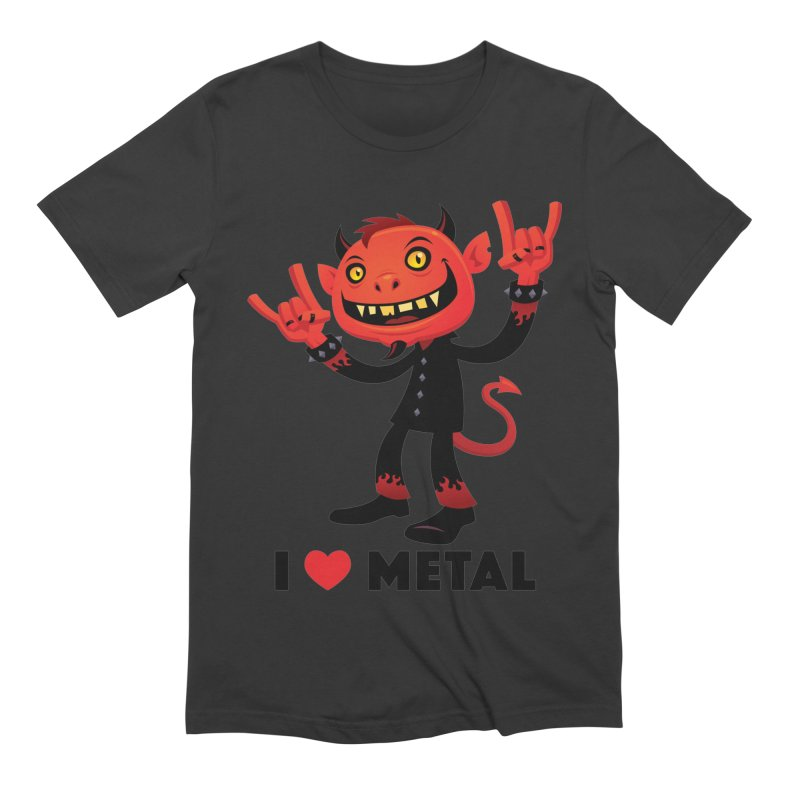 I Love Metal Devil Men's Extra Soft T-Shirt by Fizzgig's Artist Shop