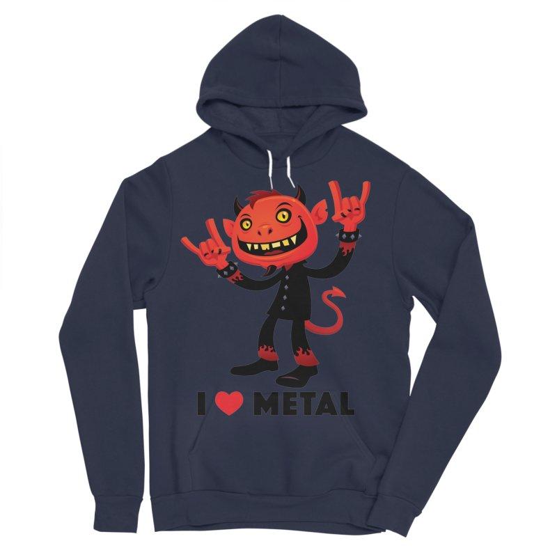 I Love Metal Devil Men's Sponge Fleece Pullover Hoody by Fizzgig's Artist Shop