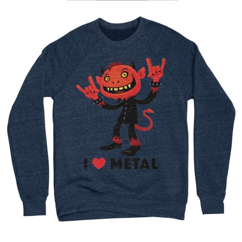 I Love Metal Devil Women's Sponge Fleece Sweatshirt by Fizzgig's Artist Shop