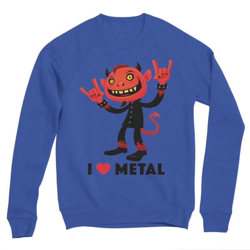 I Love Metal Devil Men's Sponge Fleece Sweatshirt by Fizzgig's Artist Shop