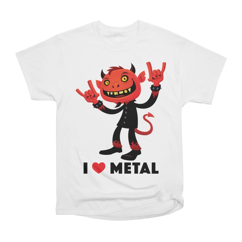 I Love Metal Devil Men's Heavyweight T-Shirt by Fizzgig's Artist Shop