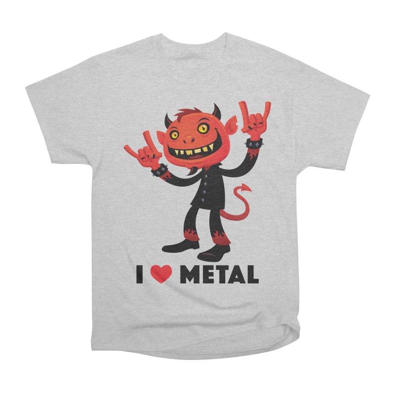 I Love Metal Devil Women's Heavyweight Unisex T-Shirt by Fizzgig's Artist Shop