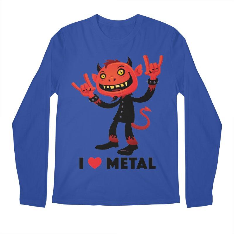 I Love Metal Devil Men's Regular Longsleeve T-Shirt by Fizzgig's Artist Shop